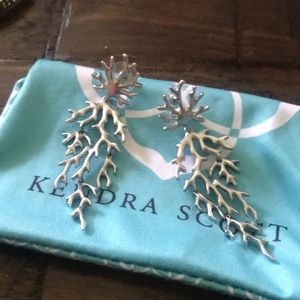 Kendra Scott silver earrings